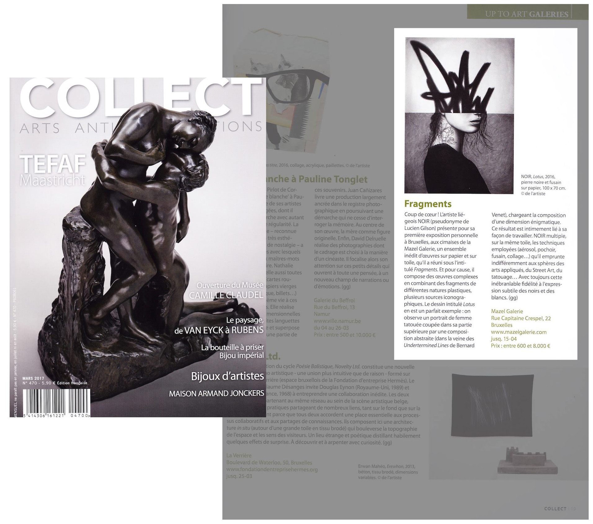 collect  magazine - NOIR artist