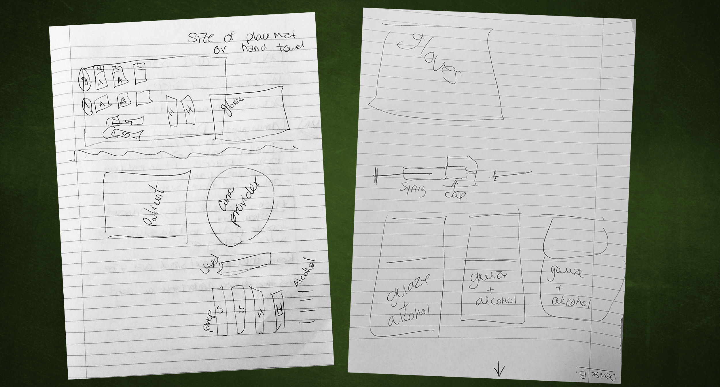 User research: it was helpful to ask parents of pediatric patients to draw their process.