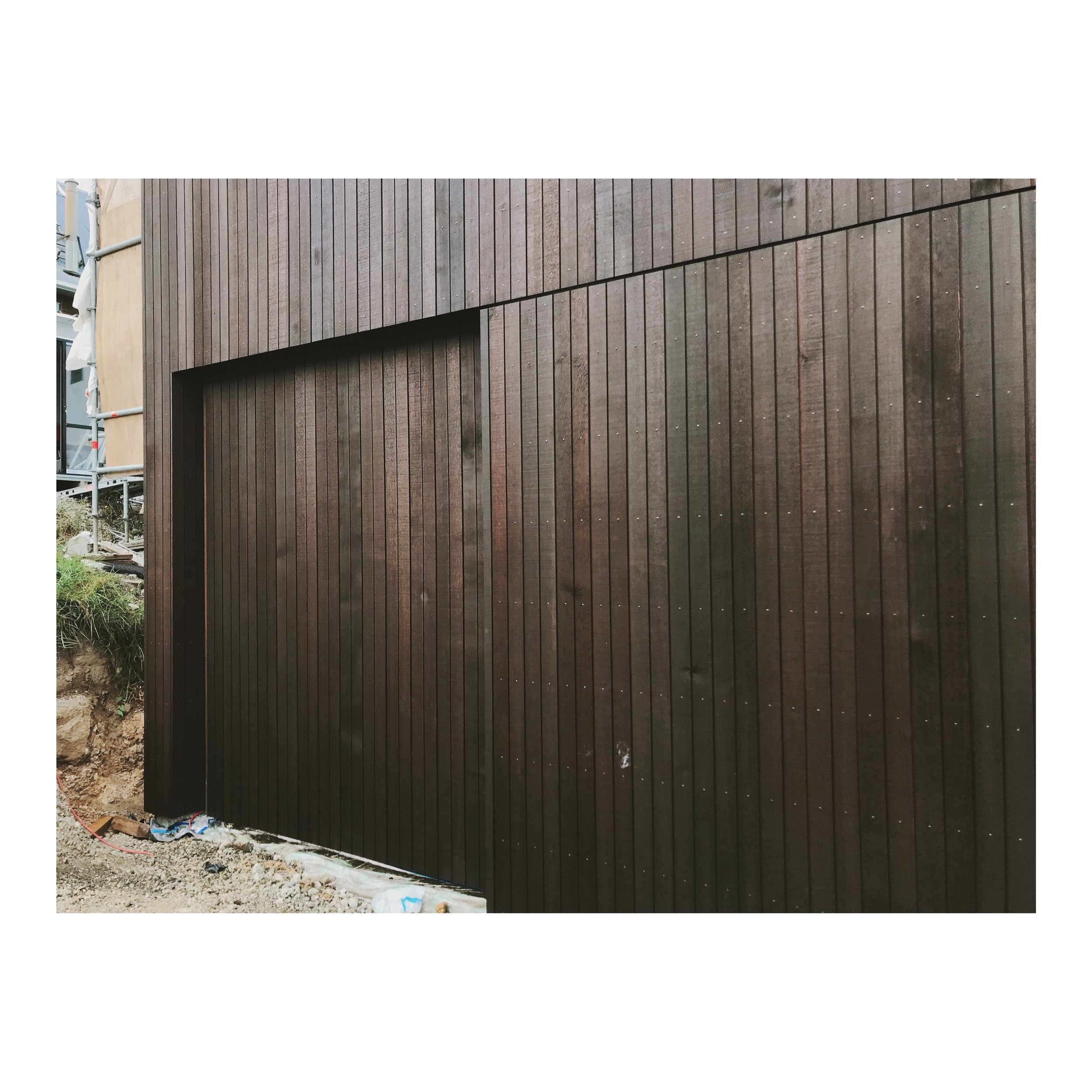 ROSENFELD KIDSON CEDAR   We have chosen a beautiful cedar vertical board in various widths and dark stain