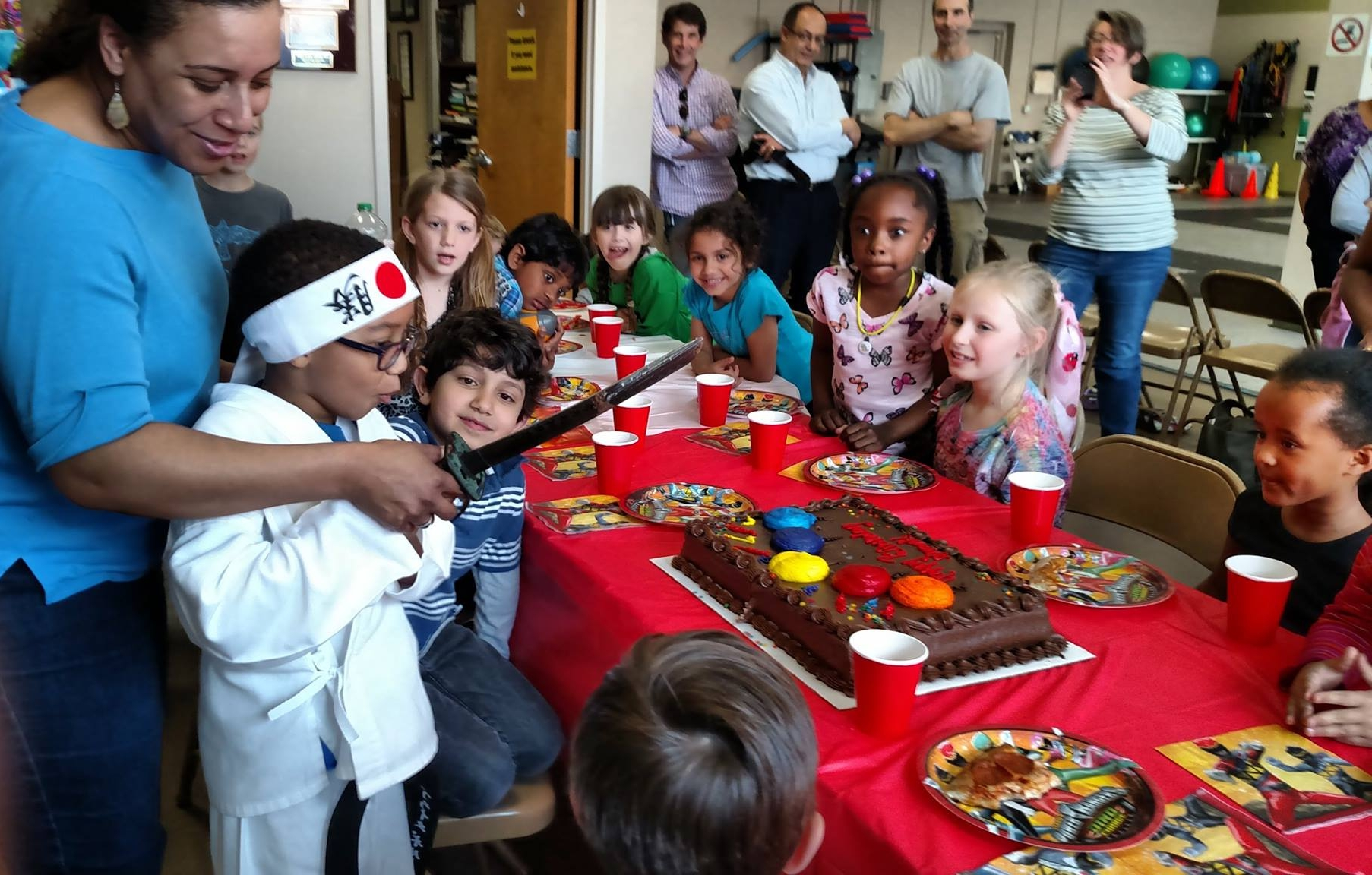 Celebrate your child's special day at Karate International of Durham with a karate-themed birthday party! Become birthday black belt for the day, enjoy martial arts training and games with your guests and we'll even cut your cake with a real sword!