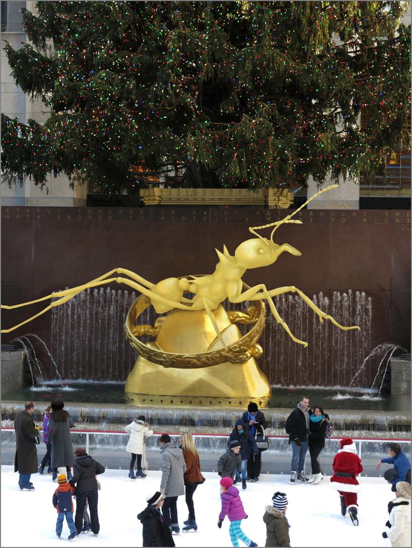 GOLDEN IDOL, Study for Rockefeller Center