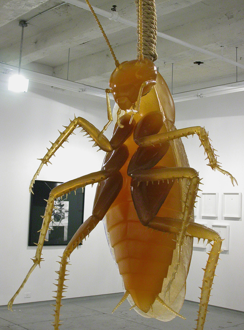 HANGING, Resin, rubber, rope, 6 feet tall, Rare Gallery, New York
