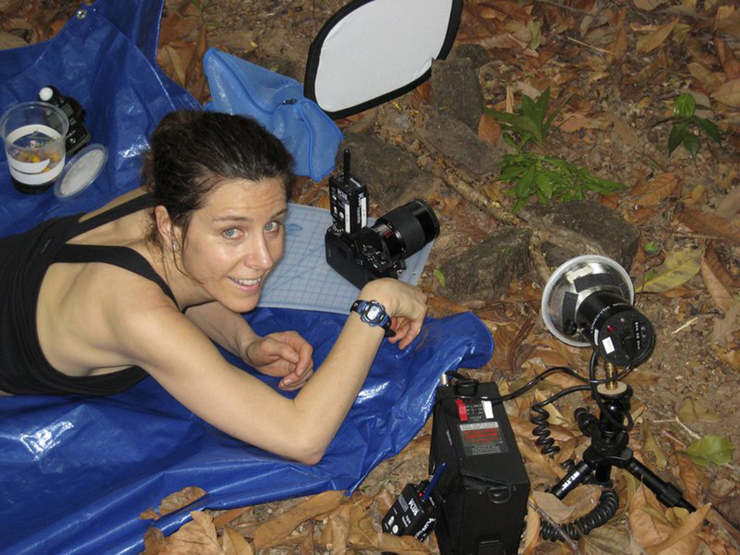 Attempting to photograph leafcutter ants for the first time. I found it impossible to do with a film camera. Next trip I switched to digital.