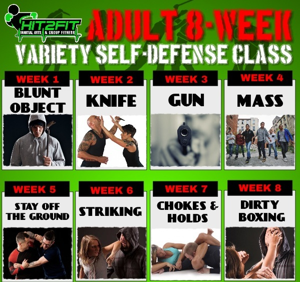 FREESELF-DEFENSE SEMINARSaturdayMay 18th@ 11:00am-12:00pm - This FREE seminar will be Week 1 of an 8-Week themed Self-Defense & safety class. Each week the class will cover a specific situation and scenario for 1 hour, 1 time per week every Saturday. Students will be hands on learning, practicing, and applying all different defense and offense tactics. Students will also learn situational awareness, how to successfully use and disarm various weapons, and life-saving self-defense. Space is limited!!REGISTER NOW AND SAVE!!Early Bird Pricing: MUST SIGN UP BY MAY 18: $20 per theme OR ALL 8 CLASSES ONLY $99 (Save $100)At the door Pricing AFTER MAY 18: $25 per theme with option to buy remaining themes.