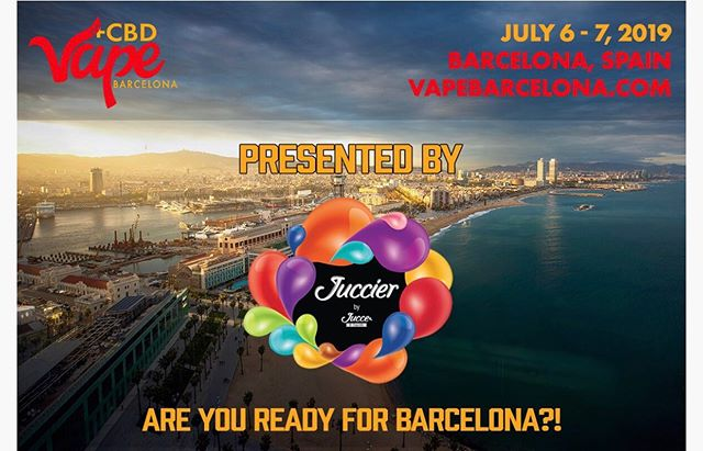 We are proud to announce Vape Barcelona 2019 is Presented by Juccier by Jucce e-Liquids! Visit them at Booth G1 @vapebarcelona.expo . . Tickets free  www.vapebarcelona.com  #vapebarcelonaexpo2019