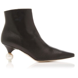 Yuul Yie - These Martina Leather Ankle booties will effortlessly spruce up any casj look (think a black motorcycle jacket, T-Shirt, and a distressed jean).