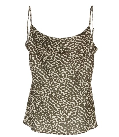 Vegan Silk Printed Sloane Camisole - Effortless sexy is a thing with this vegan silk cami. Transform any day-to-night look with a hoop earring and pair of heels.