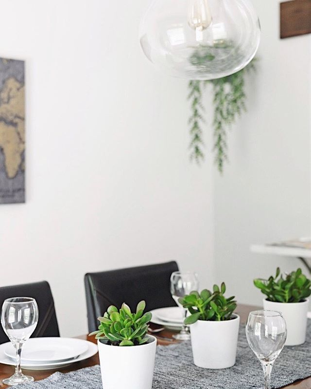 Real plants on a dining table?... 🤩 or 🤨? Let us know! • And hey, it's Friday. Friyay. French Fryday. Whichever you prefer, we made it. Have a great weekend!🥳 . . .  #wildcatinterior #howyouhome #vignette #homestaging #howwedwell #diningroom #kitchentable #kitchen #diningtable #greenery #apartmenttherapy #housetour #naturelovers #naturallight #earthinspiredhome #interiorstaging #interiorlovers #diningtable #nashvillestaging #magnoliahome #dreamhome #interiordecorators #nashville #realestate #nashvillerealty #bringtheoutsidein #decoratingwithgreenery #thedecorsocial