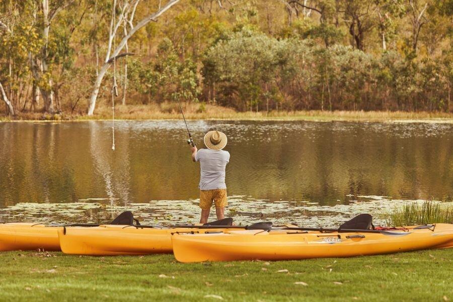 Barramundi fishing at Mt Mulligan Lodge