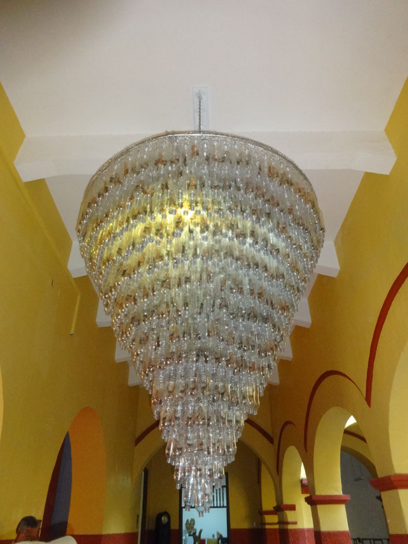 HOLY MOTHER CHANDELIER , CARTAGENA, COLOMBIA