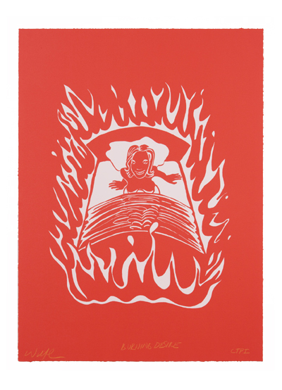 BURNING DESIRE , 30 X 22 INCHES  PUBLISHED BY EXIT ART, NYC