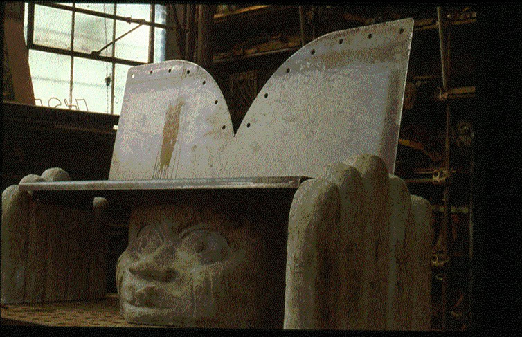 AFRICAN HEADREST, 1998 (commissioned by the City if Chicago)
