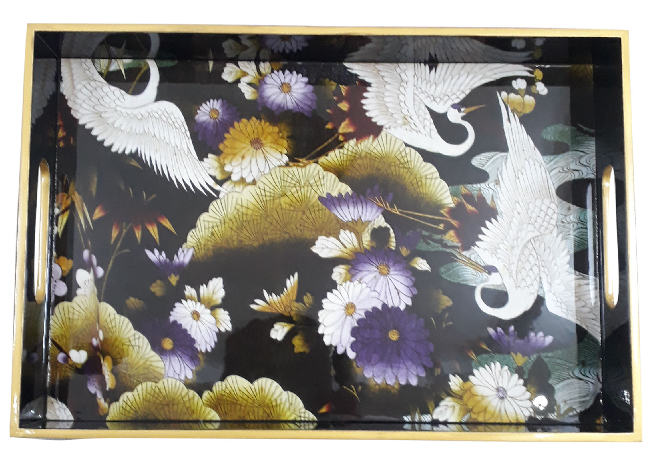Rectg. Tray L size-Crane Birds.jpg