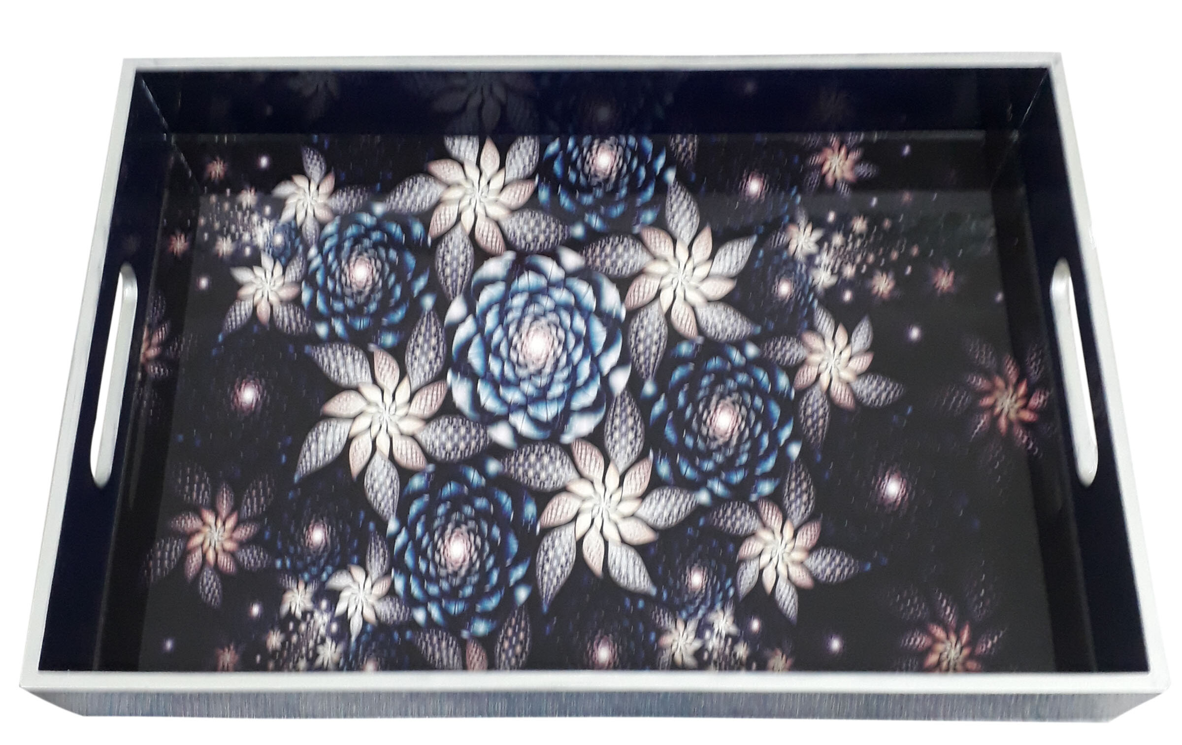 Rectg. Tray L size-Fractical Silver Flowers.jpg