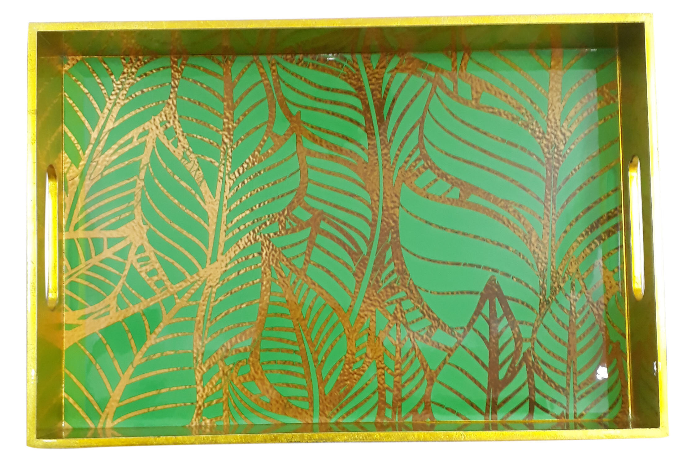 Rectg. Tray L size-Gold Leaves.jpg
