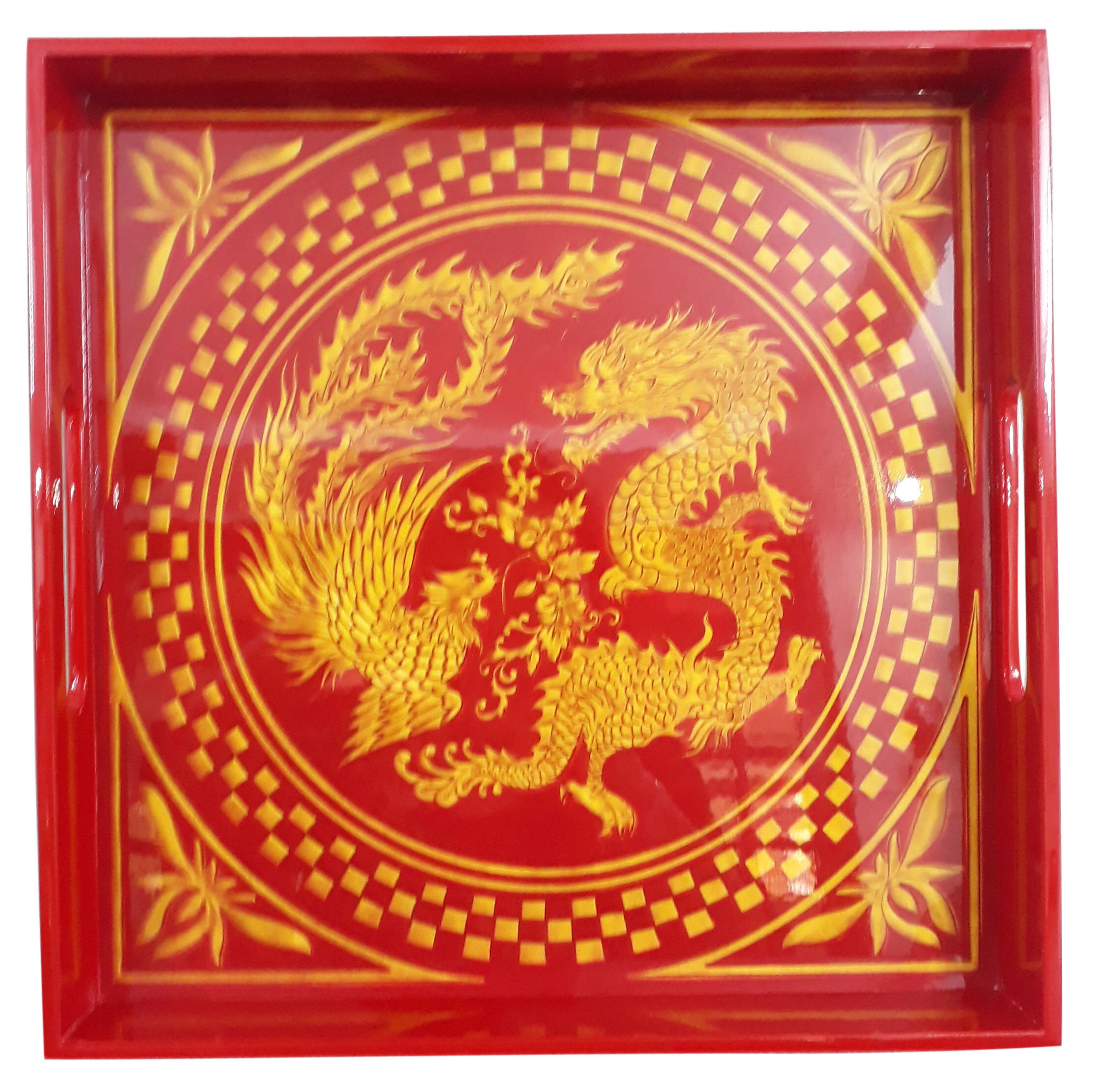 Square Tray-Gold Dragon.jpg