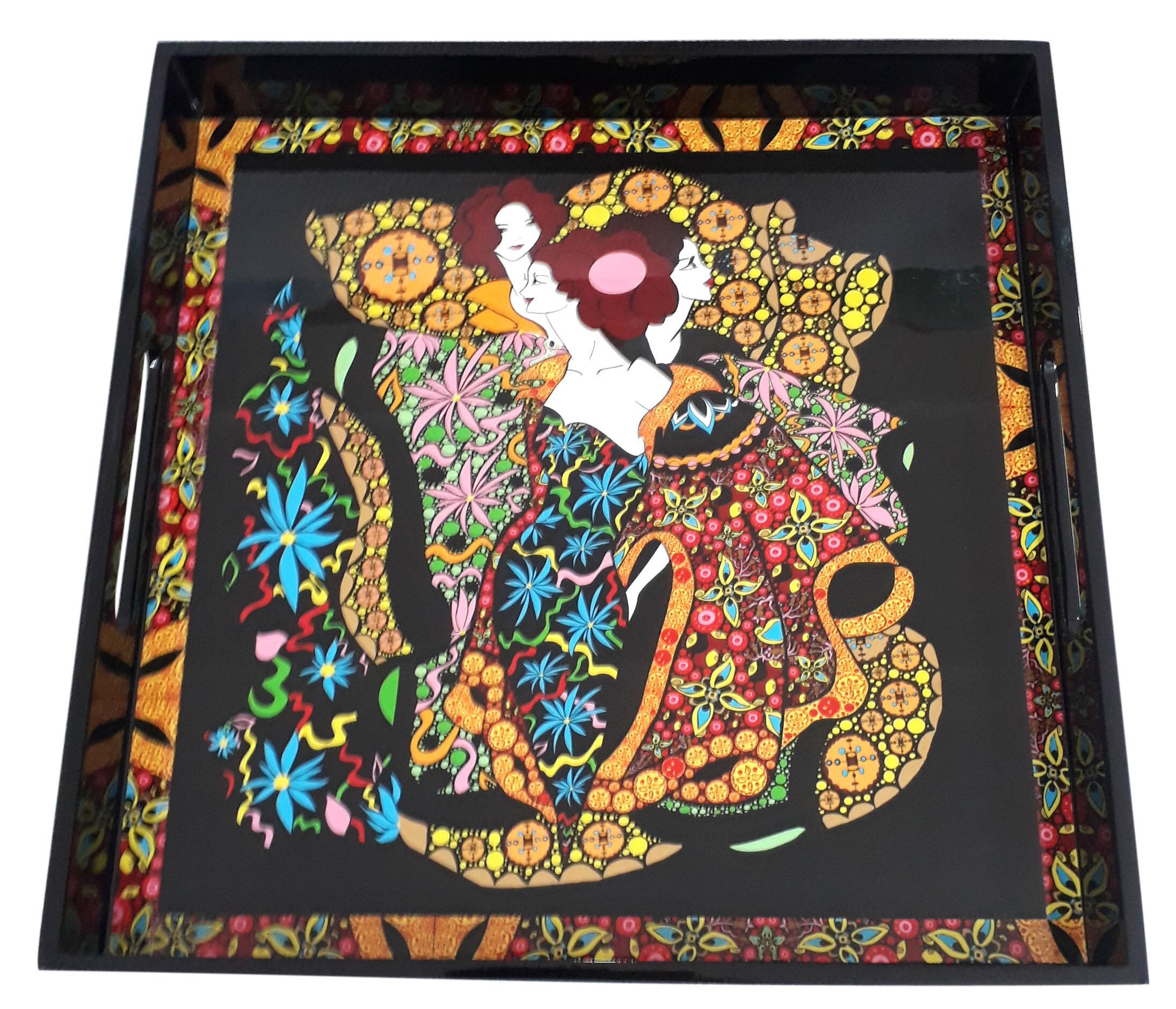 Square tray-Oriental Woman.jpg