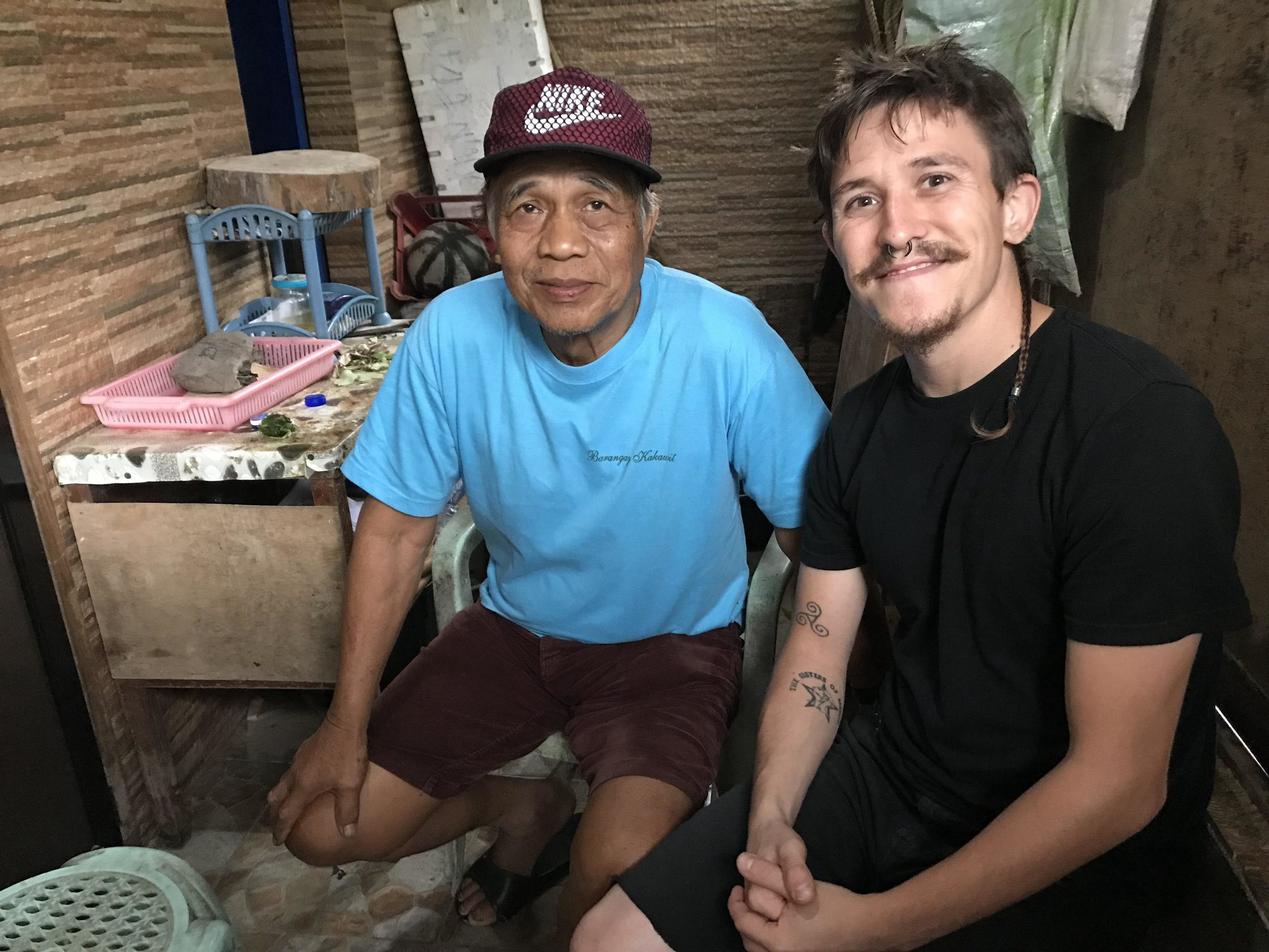 Healers have the kindest eyes! Tatay Kenyo, Filipino herbalist and Paul Parrett medical/cultural anthropologist and herbalist