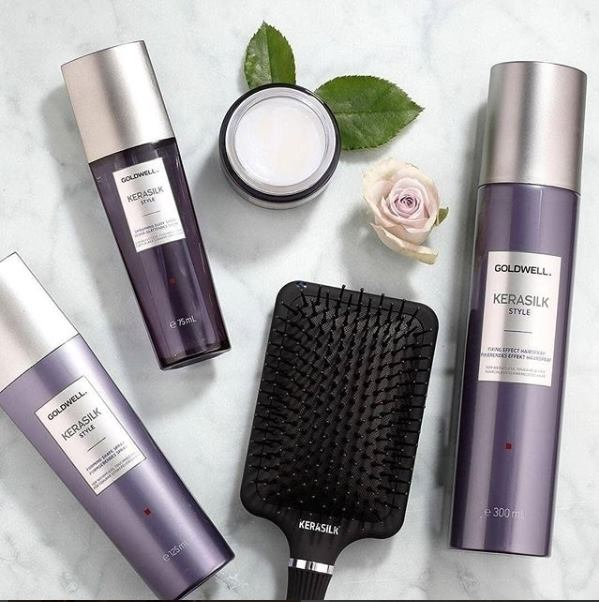 Kerasilk - A smoothing & controlling shampoo Helps gently cleanse while taming unmanageable, unruly & frizzy hair. Developed with KeraShapeTechnology that actively interacts with hair's structure. Contains precious Keratin & Silk Proteins to transform dry & damaged hair. Offers structural support & color protection