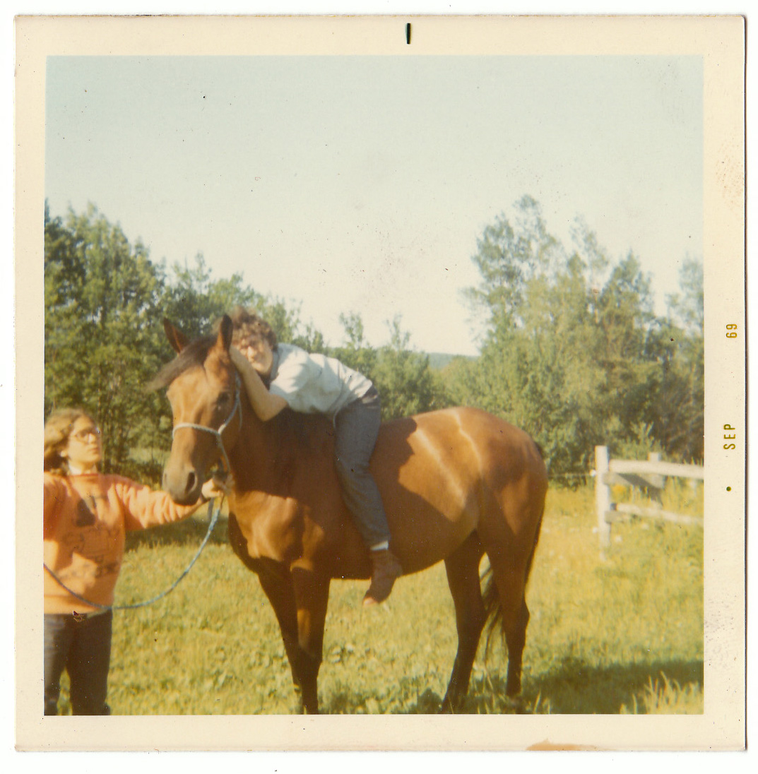 Meg, 14, on a Horse with Alice