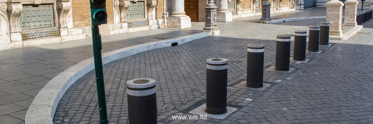 rising automatic security bollards barriers London