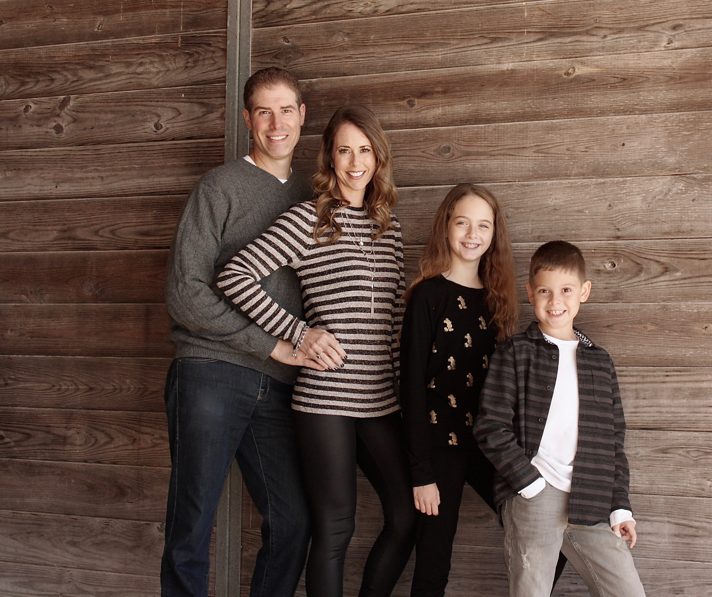 Owner, Rebecca Masel, with her husband, Gary, and their children, Alexandra and Spencer.