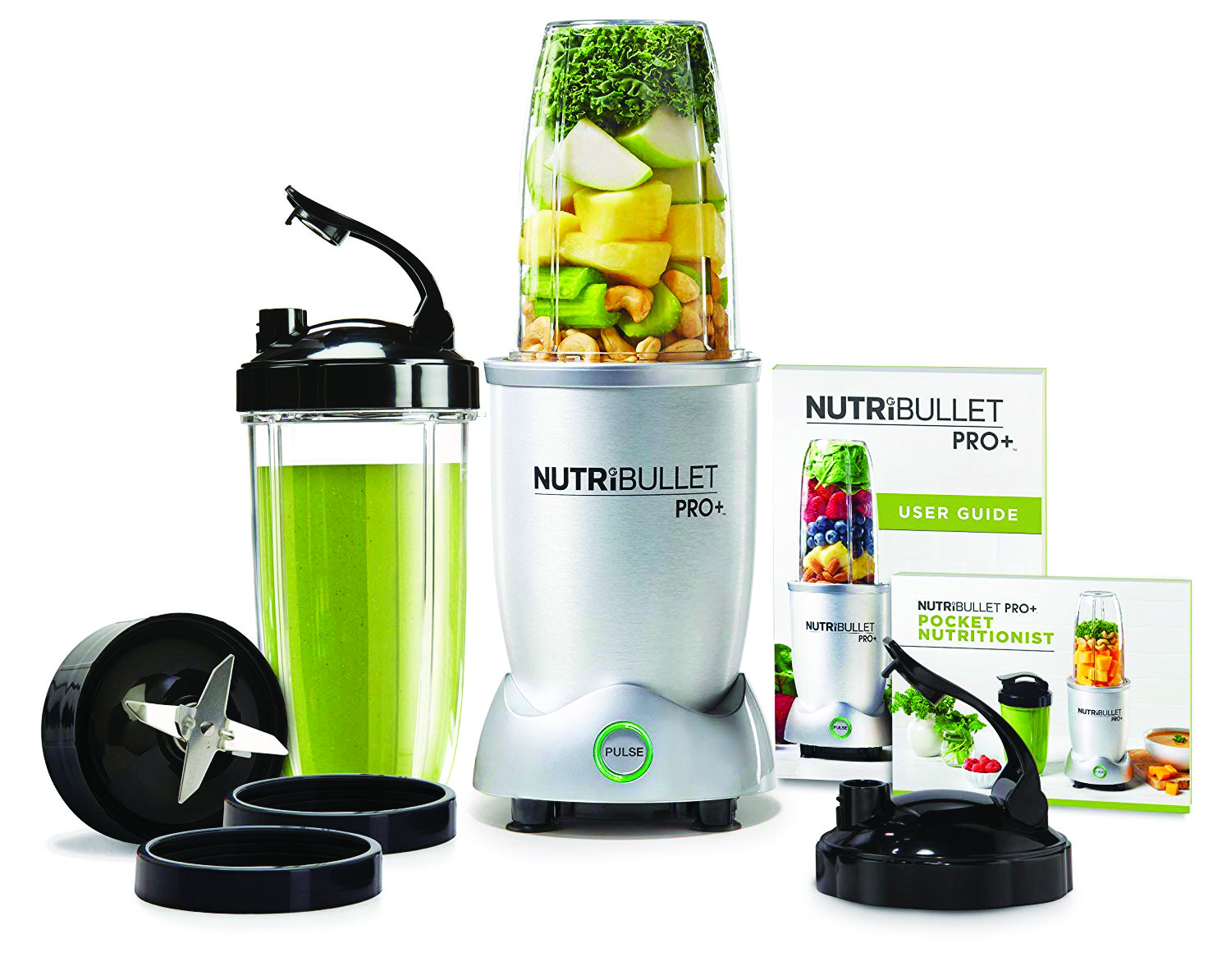 Nutribullet Pro Blender - This is the upgraded version of the NutriBullet blender and it's 50% more powerful than the original. The NutriBullet Pro extracts all the nutrients from raw fruits, vegetables, nuts and seeds, pulverizing them into a smooth, healthy drink. This series comes with all the accessories you need for goodness on-the-go, so you can use the travel cups, storage cups and flip-top lids which screw directly onto the container used for blending.Unlike traditional juicers, the Nutribullet Pro lets you get the most out of your fruits and veg by shredding through tough stems or skins and busting open any nuts or seeds. It's easy to use and comes with a great recipe book so you can blend smoothies, shakes, and juices for specific wellness or flavor. https://amzn.to/32o5oSX