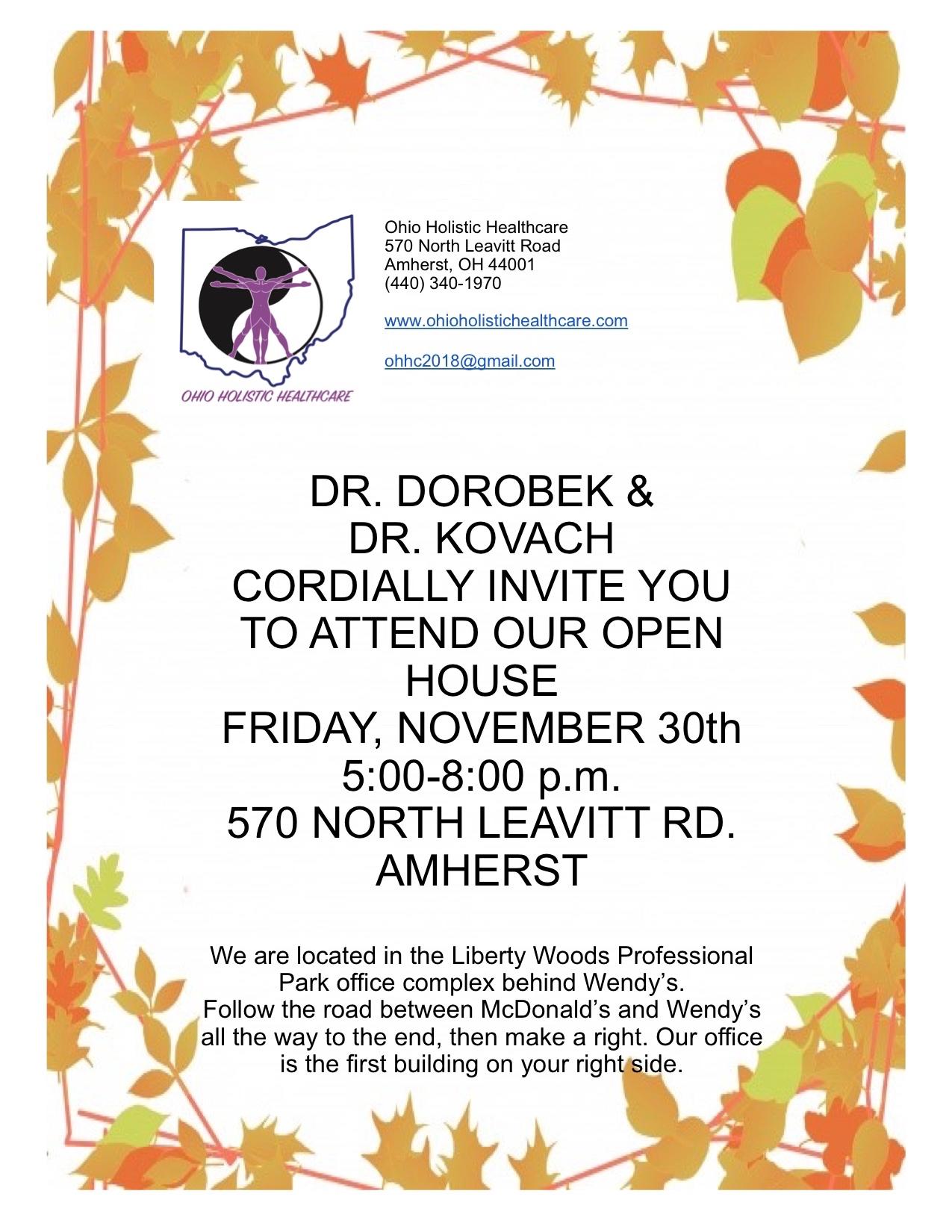 Open House Event - November 30, 2018