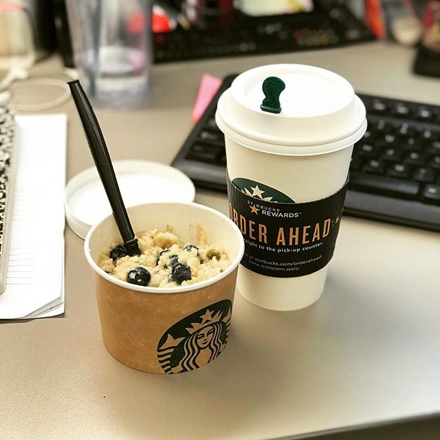 Breakfast of champs! @starbucks #oatmeal #agave #healthyeats #goodeats
