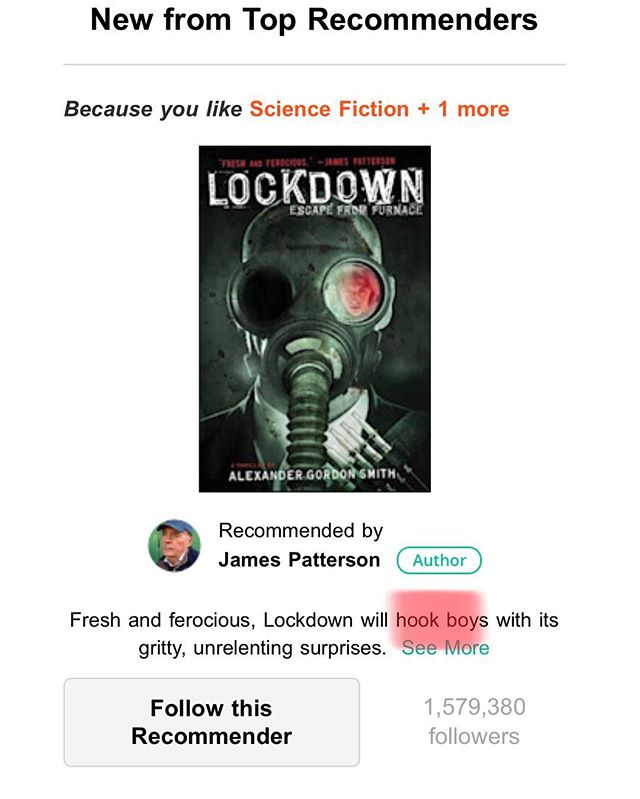 "B-because ""boys"" are the only ones who like science fiction...? Come on, James. Expected better from you. #sciencefiction #books #sexisminbooks #amreading"
