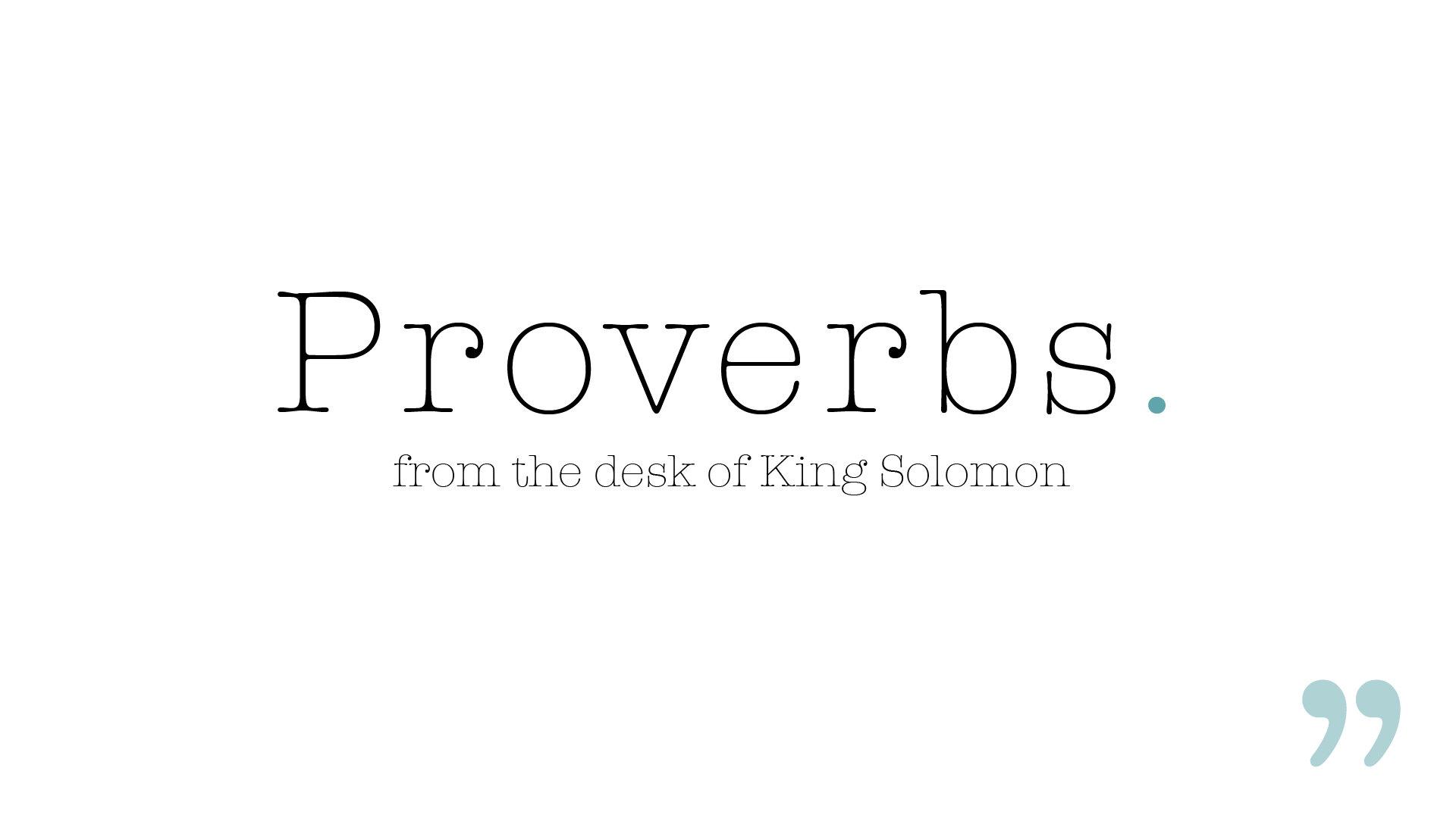 Proverbs Series