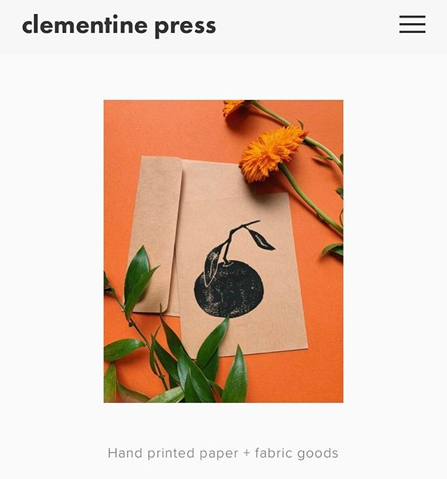 She's alive! Visit clementinepress.com for all your lino citrus needs. . . . . . #printmaker #print #printmaking #lino #linoleum #linoprint #clementine #handprinted #cards #greetingcards #handprintedcards