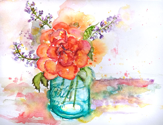 W-Orange-flower,-teal-ball-jar-Liesel-Lund.jpg
