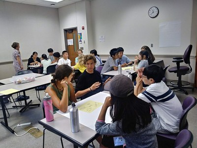 During the morning, students went to either English Language class, Global Leadership class. On some days, both classes came together for a collaborative class in which they worked on projects in small cross-cultural groups.