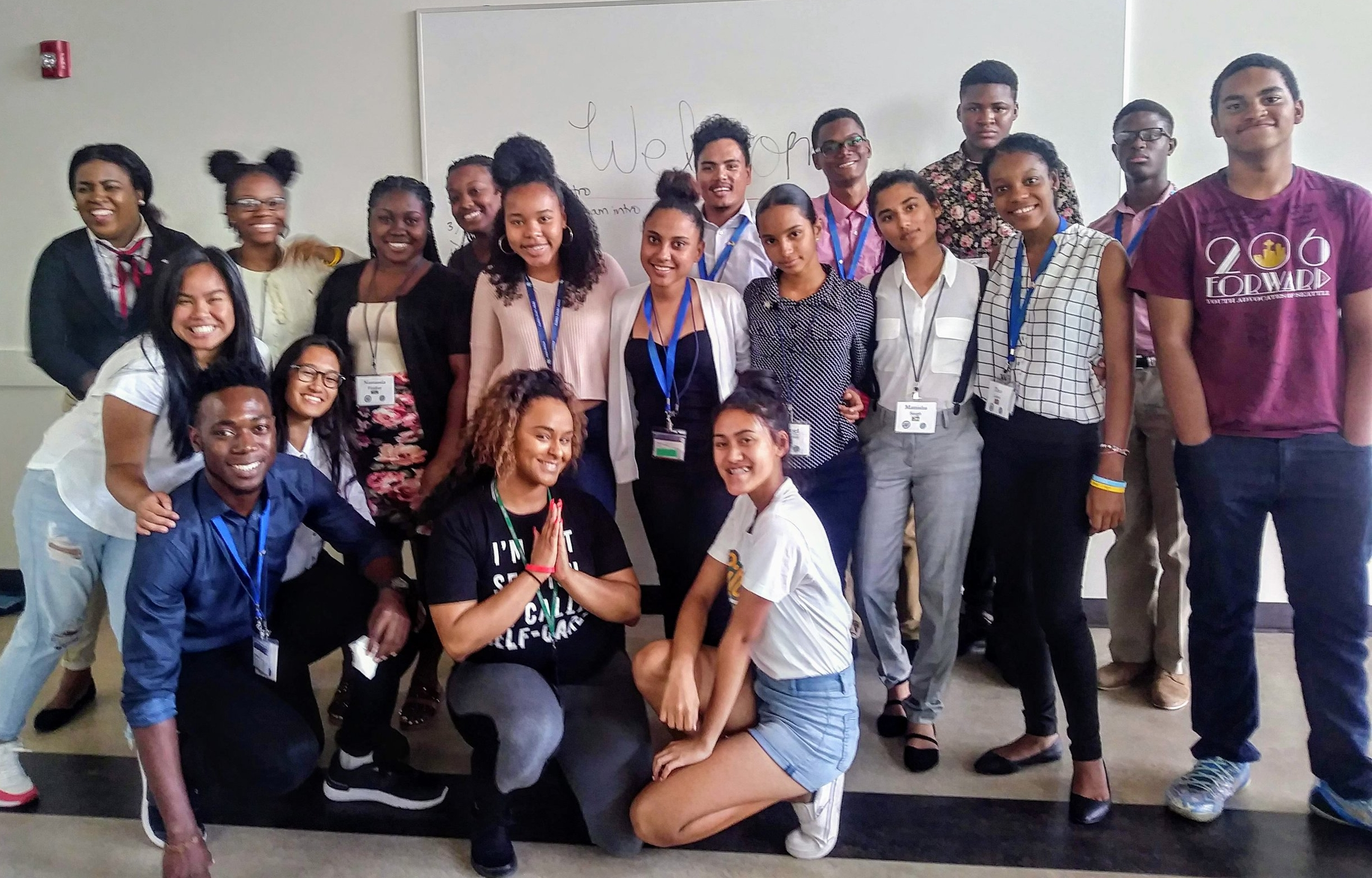 Carribean 2018 students meeting local advocacy group 206 Forward