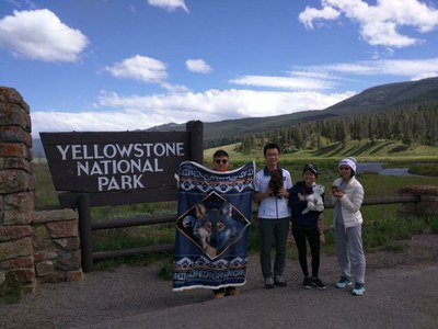 """""""I met Wenting Liu and Rowina Akin through FIUTS during my freshman year and we went to Yellowstone together with my roommate Zhaotong Liuduring that summer.  The best thing about friends is to explore the world together! """"  - Yuxuan Chen"""