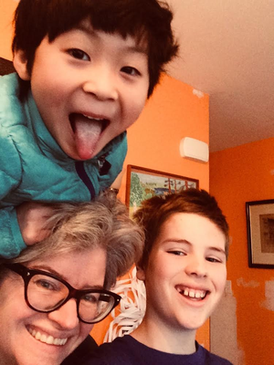 """Our family was lucky to host Muyao, and her father Shubo when they arrived from Shanghai to start a year in Seattle. (She was 4 1/2 when they arrived, our kids were 9 and 12. She did not speak any English at all but she comunicated well, chasing our cat around the house with uncooked potatoes.)  We never felt like 'typical Americans' before but we loved sharing our family traditions with our new friends.  On Halloween, Muyao trick-or-treated with us, bringing her own style to the enterprise. She refused to wear a costume, and inspected most of the candy carefully before accepting it. When I explained to a neighbor """"it's her first Halloween,"""" Muyao turned around and corrected me: """"It's my SECOND Halloween."""" We are so grateful to FIUTS for this opportunity to make new friends from around the world.  -Diana DeForest"""