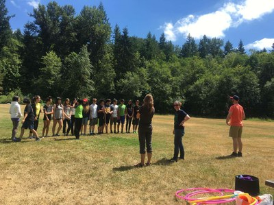 SLCI team building games at camp
