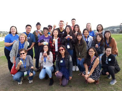 Celebrating the completion of International Welcome Weeks with fellow FIUTS staff and FIUTS student facilitators