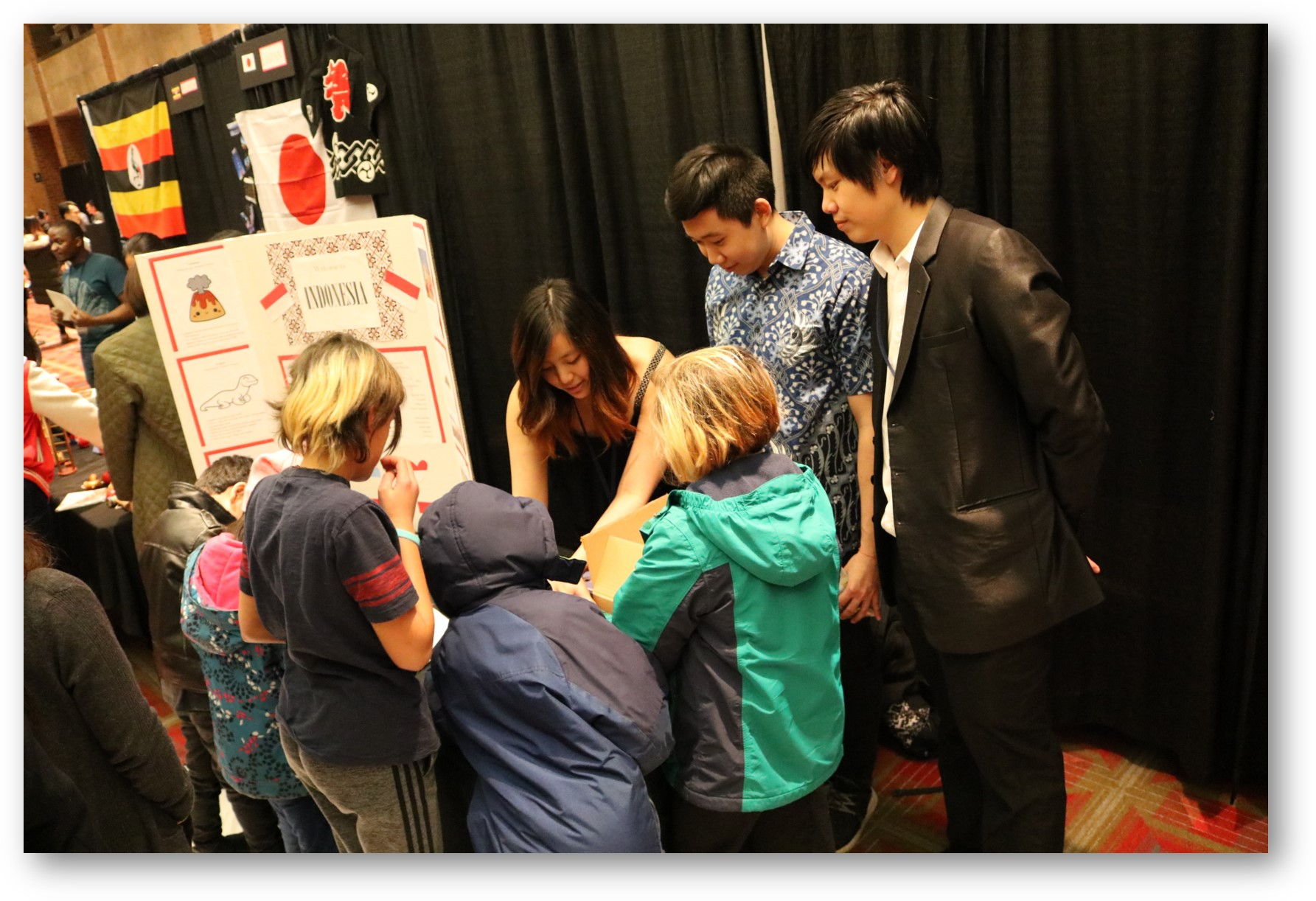 Maddie interacting with kids at the CulturalFest Expo