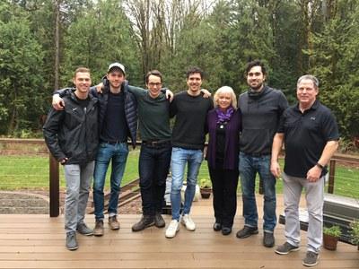 The Swarthout family with Alex K., Sebastian, Tobias, and Alex M.