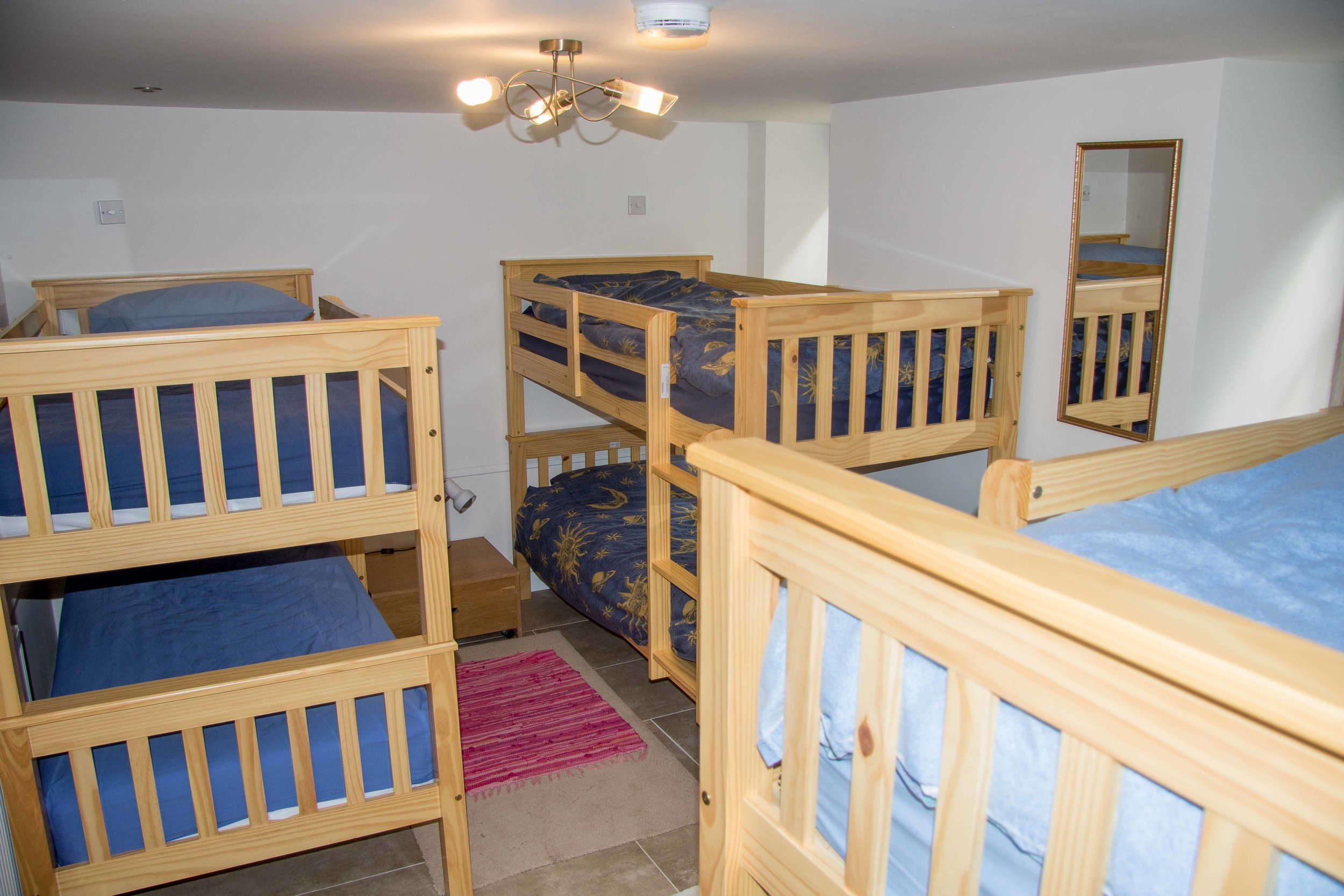 The six bunk room