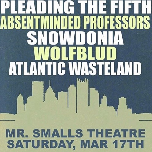 Flyer for our 3/17/18 show at Mr. Smalls Theater
