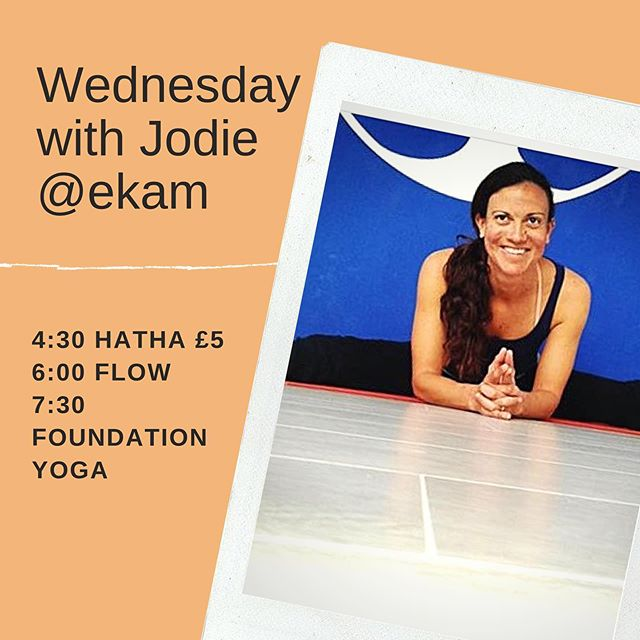 Wednesdays at ekam! It's very easy to let our practise drift aside during the summer months.. keep it up.. you know you'll feel better!