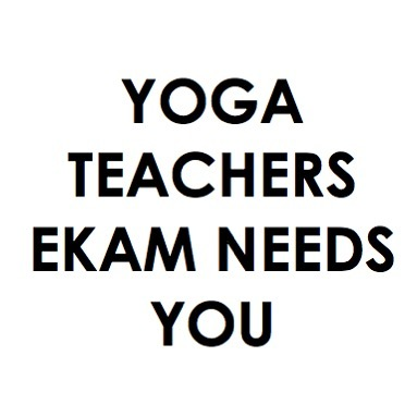 We're hiring ✌🏼 looking for yoga teachers to join our family. Please share this post & or tag teachers you'd love to have at ekam.  Please email hello@ekamstudio.co.uk .  #letsbendsowedontbreak 🕊
