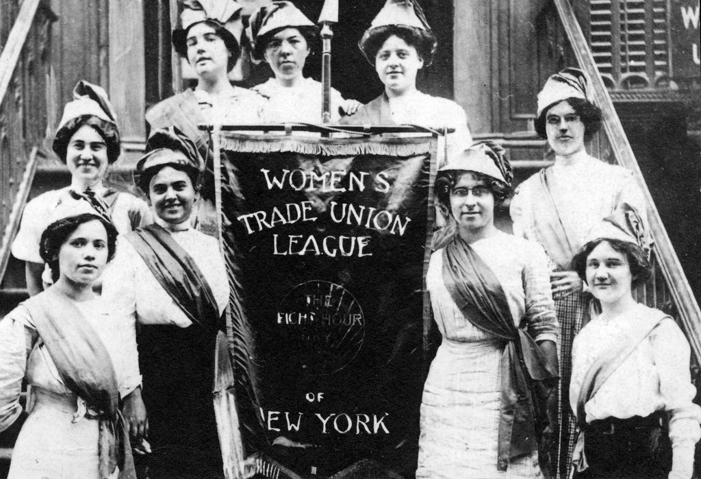 Women organizers helped win workers the 8-hour day. Photo circa 1910.
