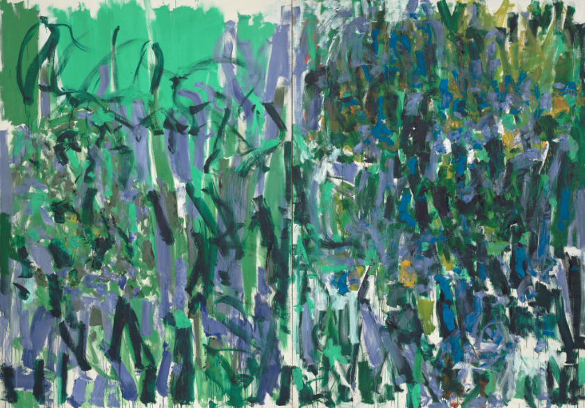 Image ℅ The Museum of Modern Art - Joan Mitchell , No Rain ( 1976)