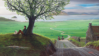 "Paul McCartney in ""Mull of Kintyre"", print by Ron Suchiu"
