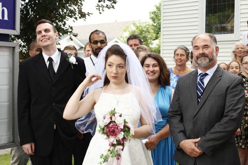 "Actor Helen Rose in wedding dress from movie ""Blue Love"". ©"