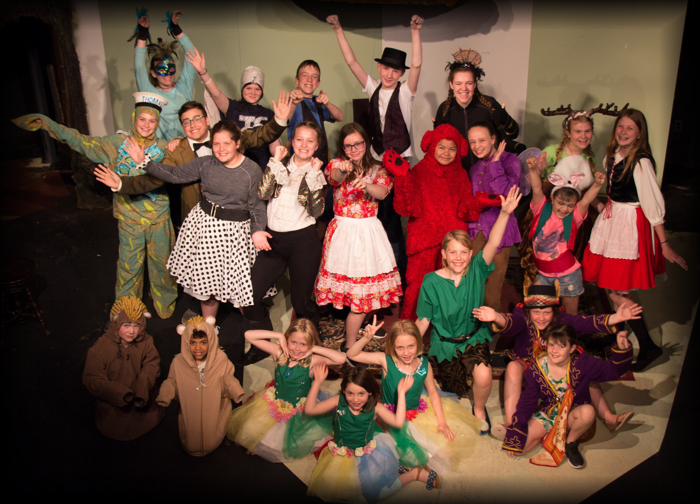 """Cast and crew of """"The Exciting Exploits of an Effervescent Elf """" at the  Elgin Theatre Guild"""
